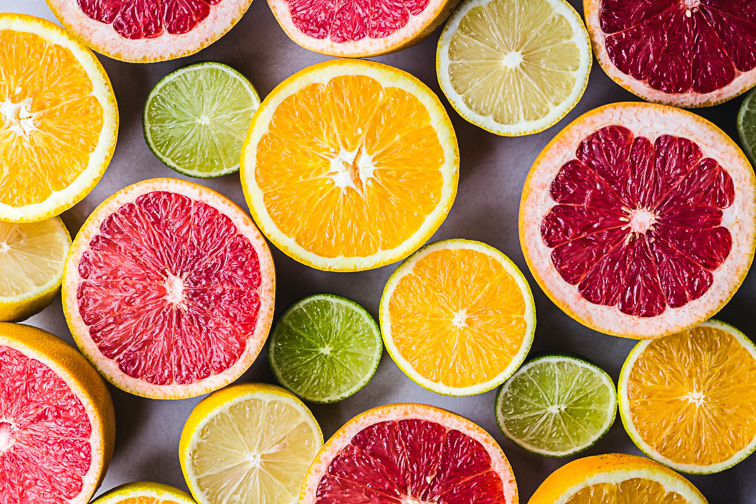 agrumes citron acide
